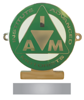 Picture of Chrome enamel car badge GREEN + Personal Engraving.