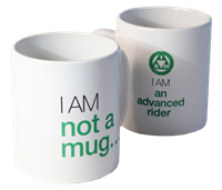Picture of green riders hot mug.