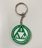 Picture of Soft vinyl bikers key ring, green